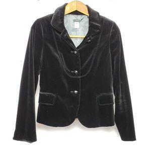 J. Crew Black Velvet Bella Fitted Blazer Jacket